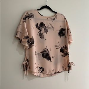 Pink short sleeve blouse